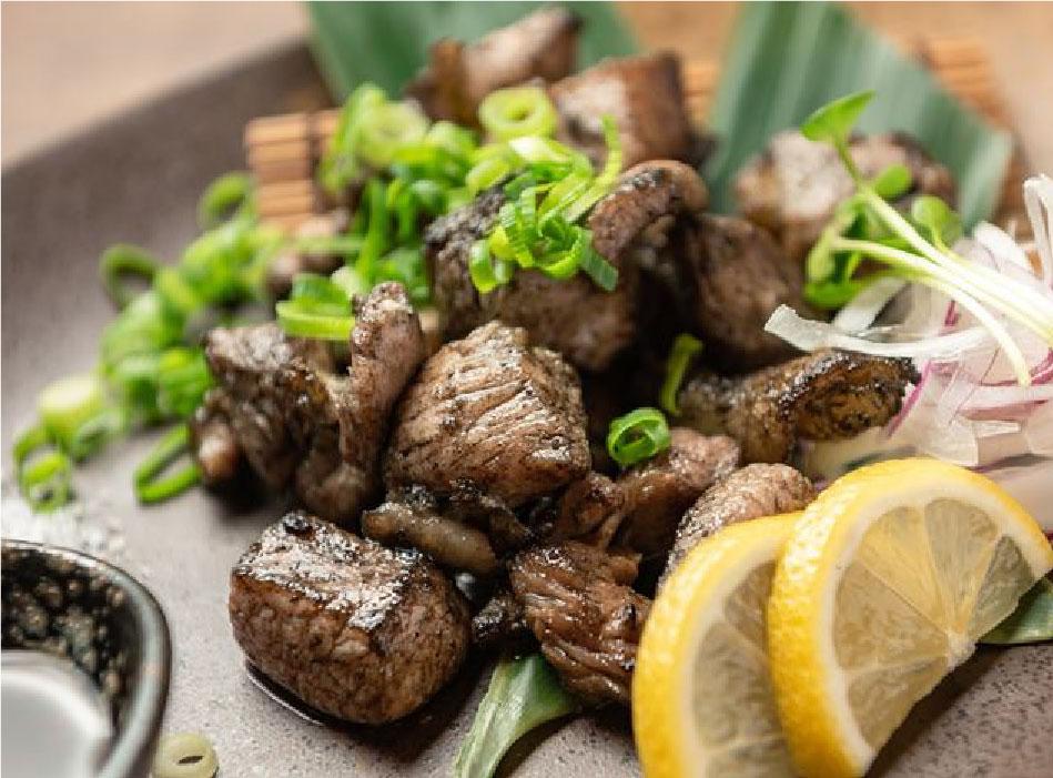 宮崎地鶏もも肉の炭火焼き